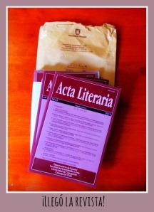 El número de Acta Literaria con mi artículo.