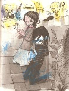 La ilustración de El cristal con que se mira, coloreada por Tony
