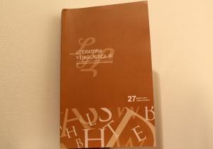 La portada de la edición más reciente de Literatura y Lingüística.