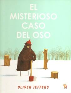 La portada de El misterioso caso del oso, de Oliver Jeffers.