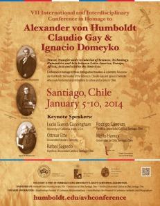 El afiche del Congreso von Humboldt 2014.